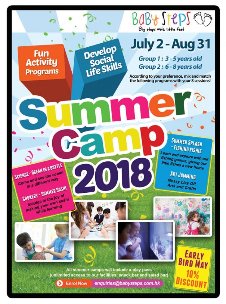 BabySteps' summer camps