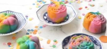 Rainbow Snowy Mooncake
