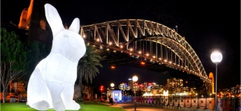 Giant 'Moon Rabbit' art installation lands in Hong Kong for the first time