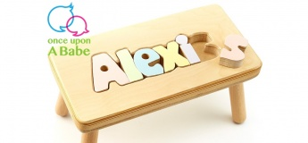 Customize Wooden Puzzle Stool for your little one!