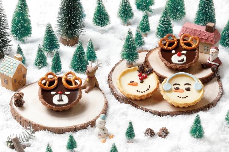 (Parent-Child Class) Deer-look Chocolate Tart and Snowman-look Fresh Milk Tart Class