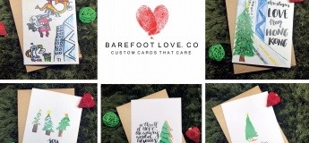 Custom X-mas Cards Collection: Barefoot Love Co x Your Family